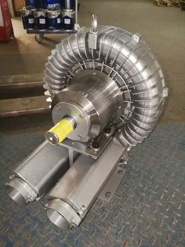 Motorless Bare Shaft Air Blowers Drive By Belt , Low Noise Side Channel Blower